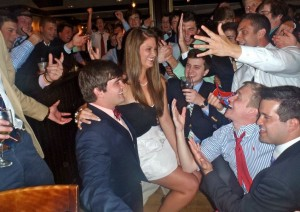 Being serenaded by my high school sweetheart and the rest of his Sigma Chi brothers after being named their fraternity sweetheart! TSM.