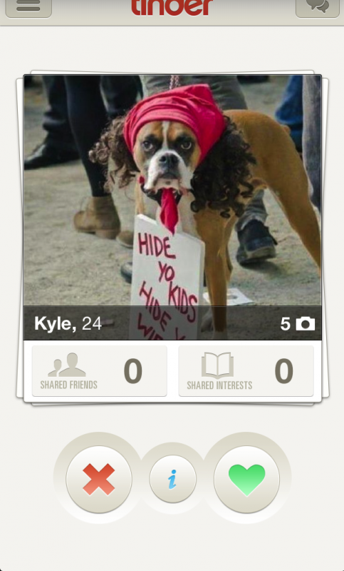 Hide yo kids, hide yo wife, and definitely hide yoself from this Tinder match.