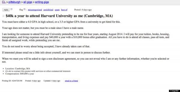 Craigslist Harvard