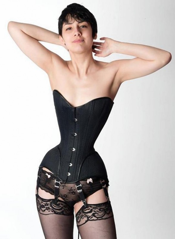 Woman Obtains 16 Inch Waist By Wearing A Corset
