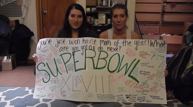 University Of Michigan Delta Phi Epsilon Surprises House Mom With Super Bowl Tickets
