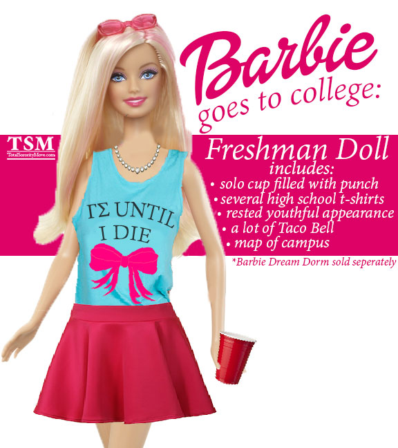 Freshman-Barbie