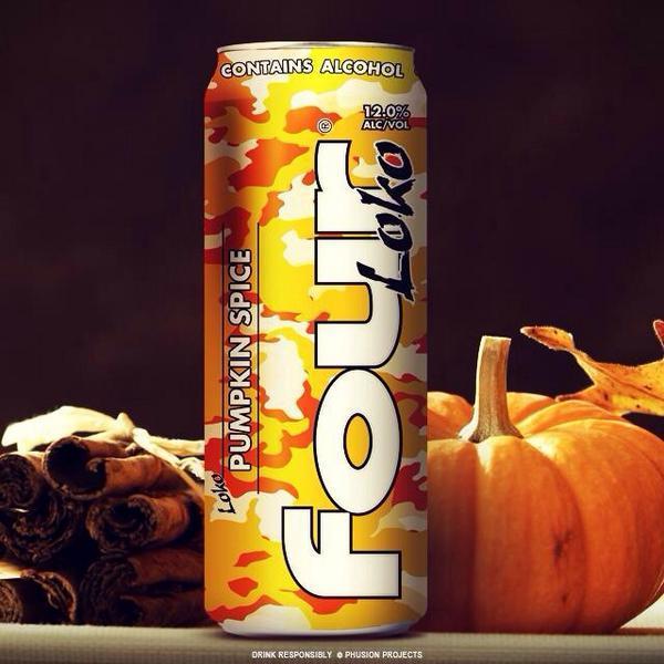 Pumpkin Spice Four Loko